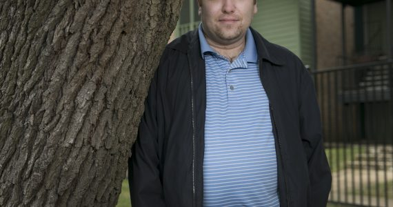 """USE THIS PHOTO Chris Vickery found millions of voter information files discovered unprotected online by what he says """"opening my eyes"""" as he describes working with the federal government to uncover the culprit. He was photographed outside his north Austin apartment Wednesday December 30, 2015.  RALPH BARRERA/ AMERICAN-STATESMAN"""